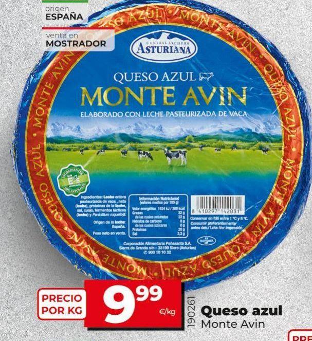 Oferta de Queso azul Monte Avin por 9,99€