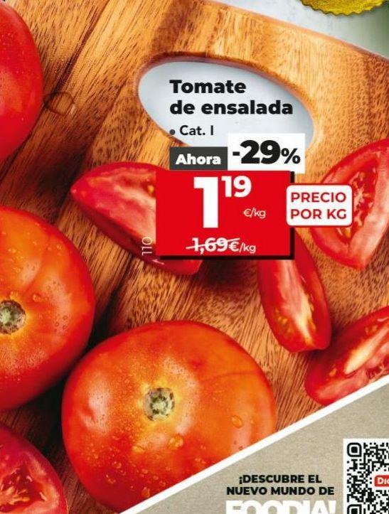Oferta de Tomate ensalada por 1,19€