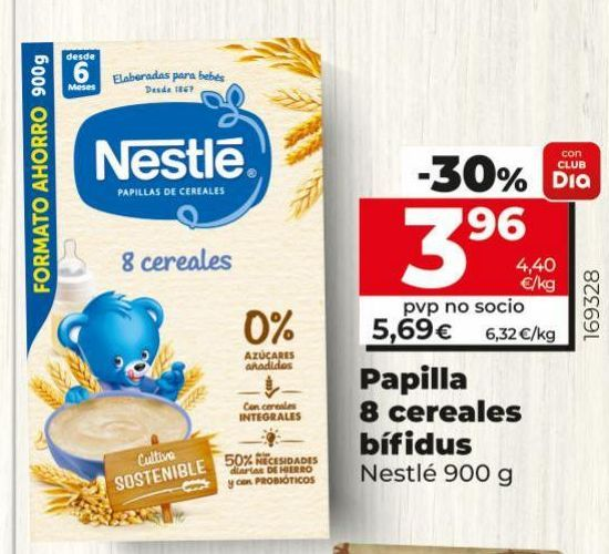 Oferta de Papilla de cereales Nestlé por 5,69€