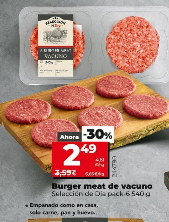 Oferta de Hamburguesas de vacuno por 2,49€