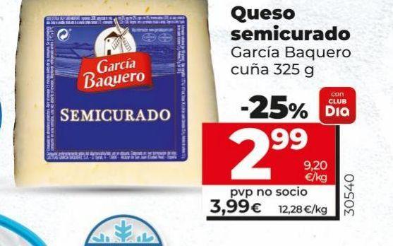 Oferta de Queso semicurado por 3,99€