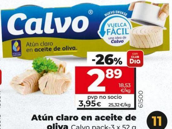 Oferta de Atún en aceite de oliva Calvo por 3,95€