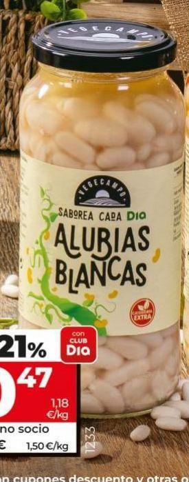 Oferta de Alubias blancas Dia por 0,6€