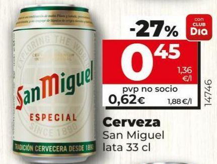 Oferta de Cerveza San Miguel por 0,62€