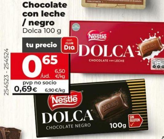 Oferta de Chocolate con leche Dolca por 0,69€
