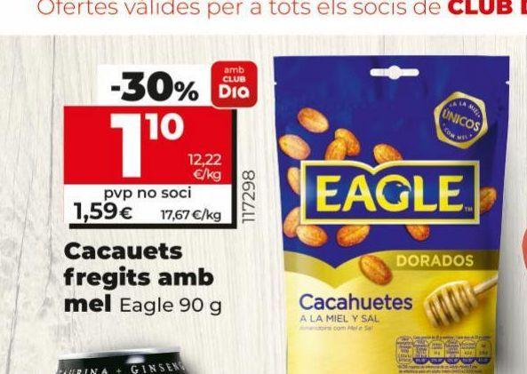 Oferta de Cacahuetes fritos con miel Eagle por 1,59€