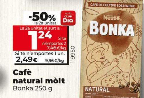 Oferta de Café molido Bonka por 2,49€