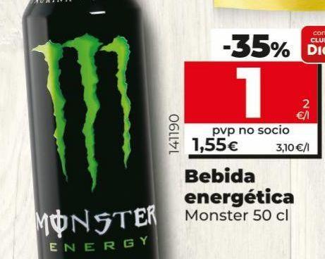 Oferta de Bebida energética Monster por 1,55€