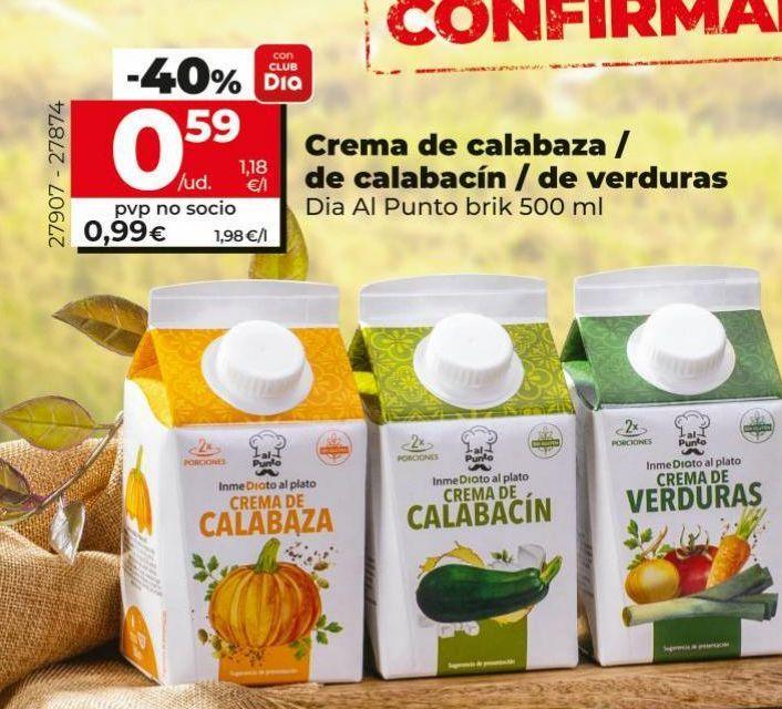 Oferta de Crema de calabaza Dia por 0,99€