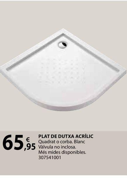 Oferta de Plat de dutxa acrílic por 65,95€