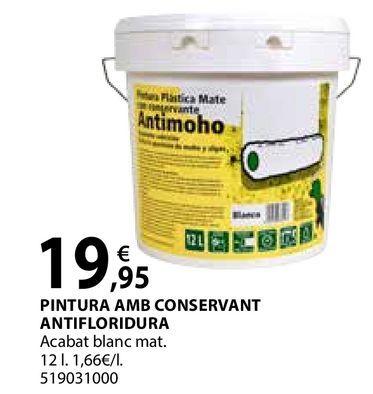 Oferta de Pintura amb conservant antifloridura por 19,95€