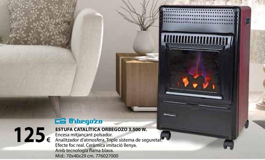Oferta de Estufa catalítica orbegozo 3.500W por 125€