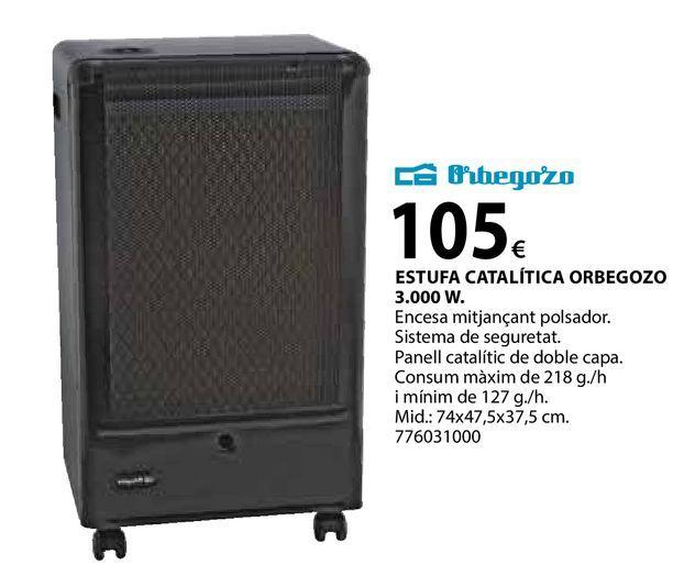 Oferta de Estufa catalítica orbegozo por 105€
