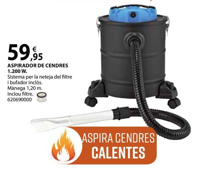 Oferta de Aspirador de cendres 1.200 W por 59,95€
