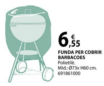 Oferta de Funda per cobrir barbacoes por 6,55€