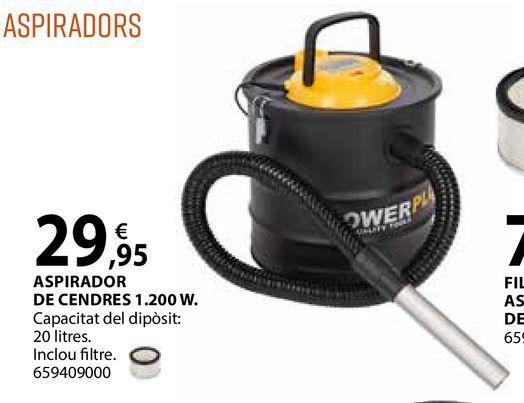 Oferta de Aspirador de cendres 1.200W por 29,95€