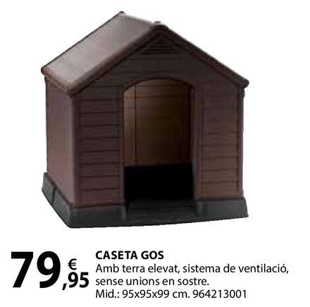 Oferta de Caseta gos por 79,95€