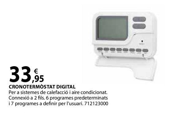 Oferta de Cronotermòstat digital por 33,95€