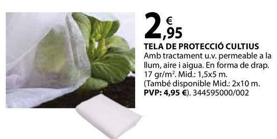 Oferta de Tela de protecció cultius por 2,95€