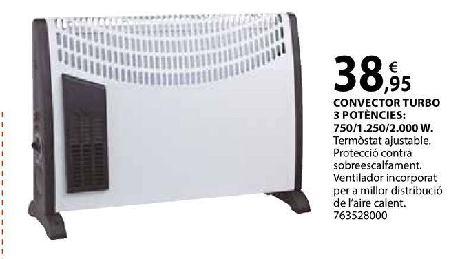 Oferta de Convector turbo por 38,95€
