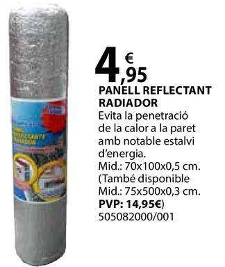 Oferta de Panel reflectant radiador por 4,95€