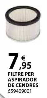 Oferta de Filtre per aspirador de cendres por 7,95€