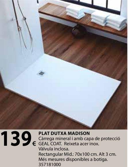 Oferta de Plat dutxa madison por 139€