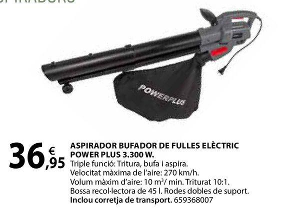 Oferta de Aspirador bufador de fulles elèctric por 36,95€