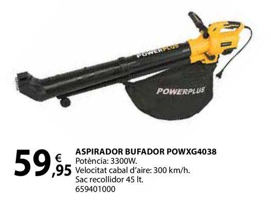 Oferta de Aspirador bufador powxg4038 por 59,95€