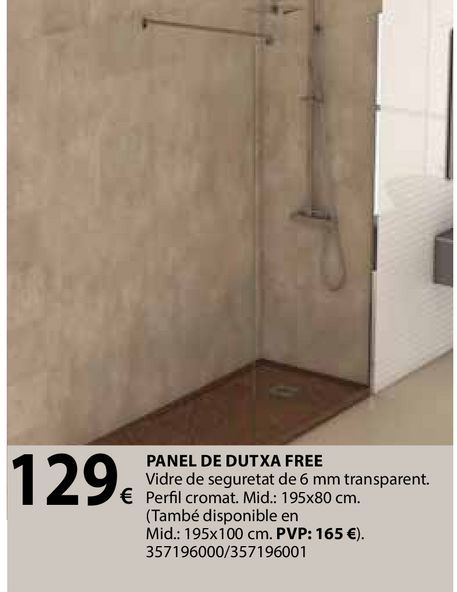 Oferta de Panel de dutxa free por 129€