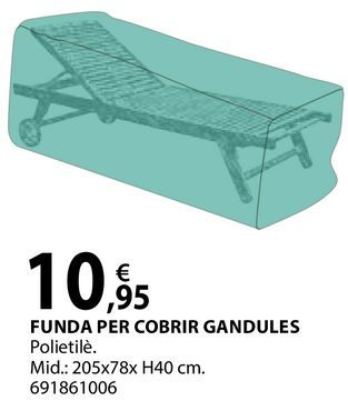 Oferta de Funda per cobrir gandules por 10,95€