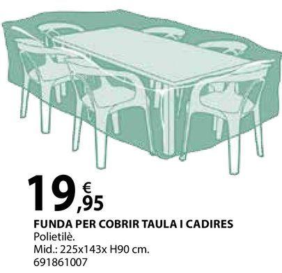 Oferta de Funda per sobrir taula i cadires por 19,95€