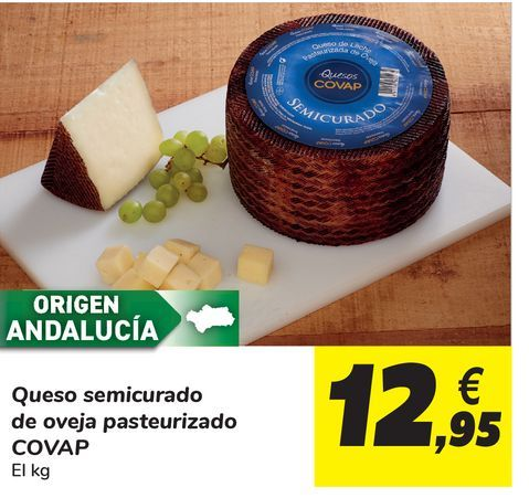 Oferta de Queso semicurado de oveja pasteurizado Covap por 12,95€