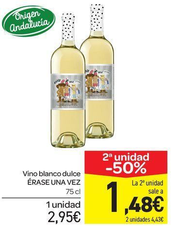 Oferta de Vino blanco dulce ERASE UNA VEZ 75 cl por 2,95€