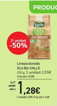 Oferta de Linaza dorada Eco Bio VALLE 250 g por 2,55€
