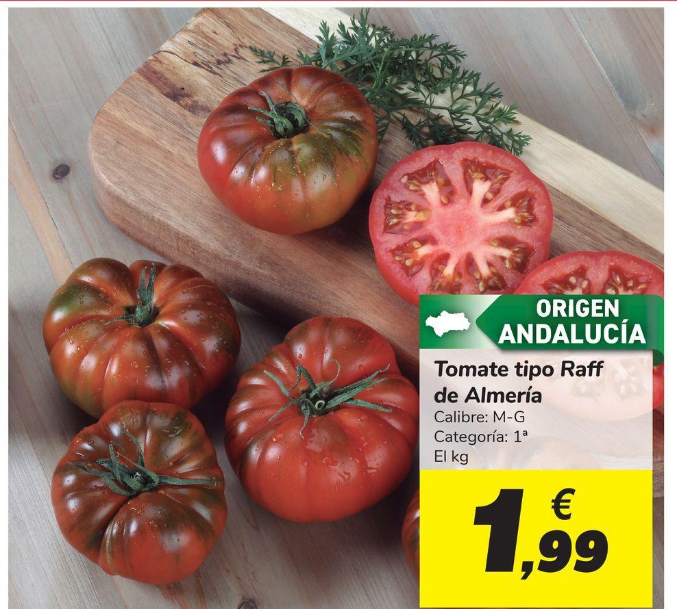 Oferta de Tomates tipo Raff de Almería  por 1,99€