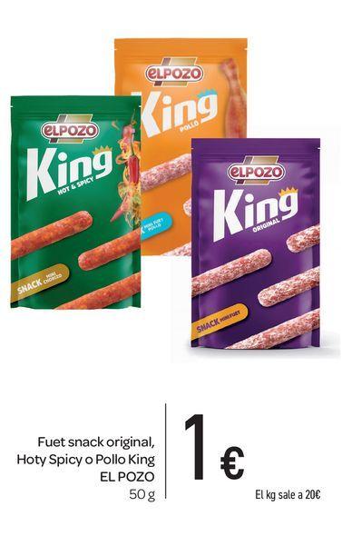 Oferta de Fuet snack original El Pozo 50 g por 1€