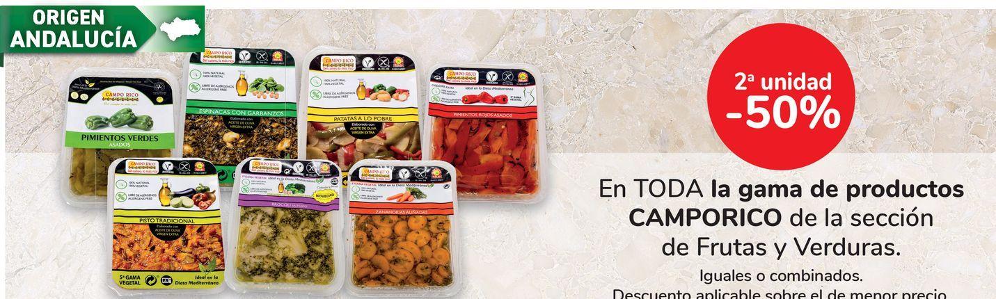 Oferta de En TODA la gama de productos CAMPORICO de la sección de fritas y verduras por