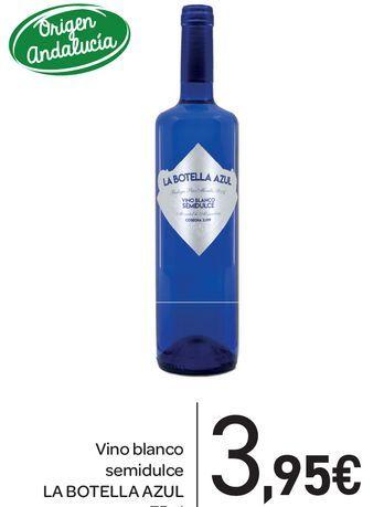 Oferta de Vino blanco semidulce LA BOTELLA AZUL por 3,95€