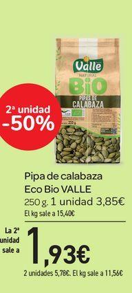 Oferta de Pipas de calabaza Eco Bio VALLE, 250 g por 3,85€