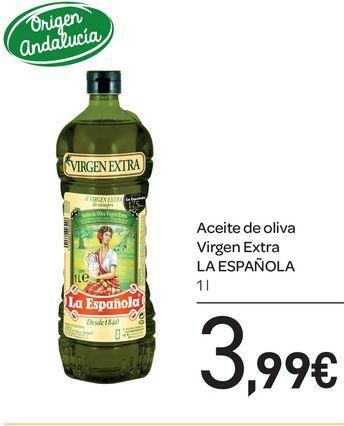 Oferta de Aceite de oliva virgen extra La Española 1L por 3,99€