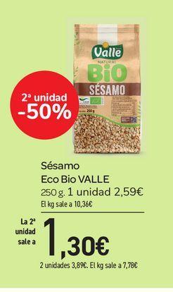 Oferta de Sésamo Eco Bio Valle 250 g por 2,59€