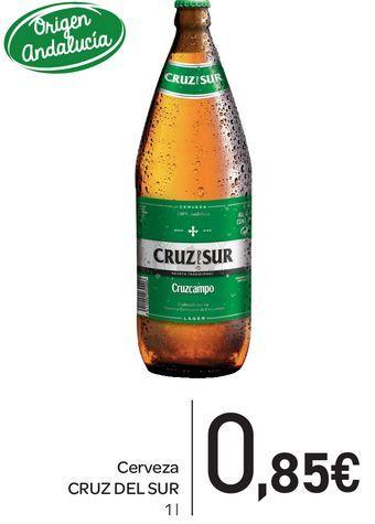 Oferta de Cerveza Cruz del Sur 1L por 0,85€