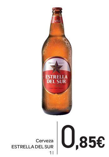 Oferta de Cerveza Estrella del Sur 1L por 0,85€