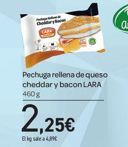 Oferta de Pechuga rellena de jamón y queso azul  Lara 460 g por 2,25€