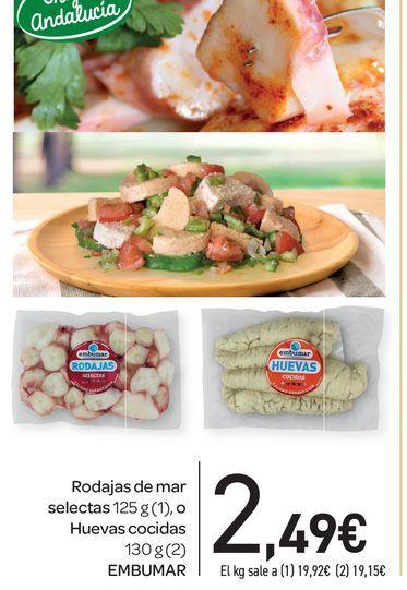 Oferta de Rodajas de mar selectas 125 g o huevas cocidas 130 g Embumar por 2,49€