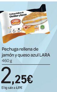Oferta de Pechuga rellena de jamón y queso azul 460 g Lara por 2,25€