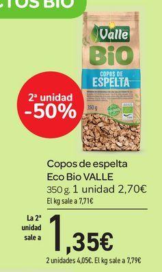 Oferta de Copos  de espelta Eco Bio VALLE 350 g por 2,7€