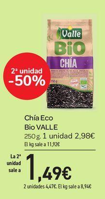 Oferta de Chía Eco Bio VALLE 250 g por 2,98€