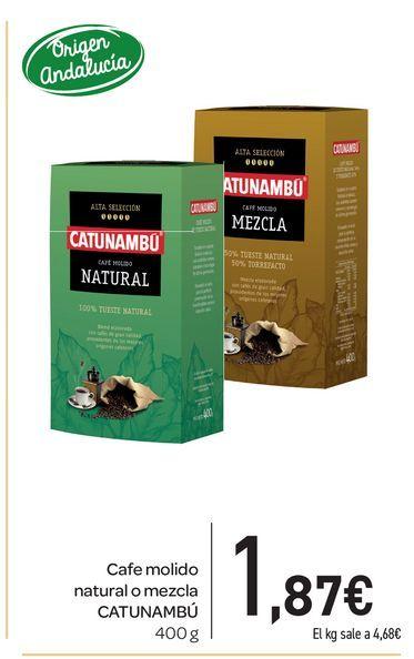 Oferta de Café molido, natural o mezcla  Catunambú 400 g por 1,87€
